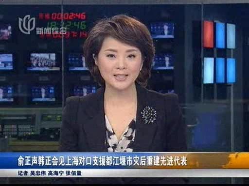 俞正声韩正会见上海对口支援都江堰市灾后重建先进代表
